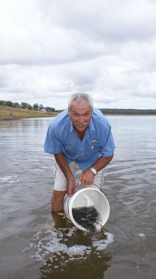 Fingerling Release into Dam